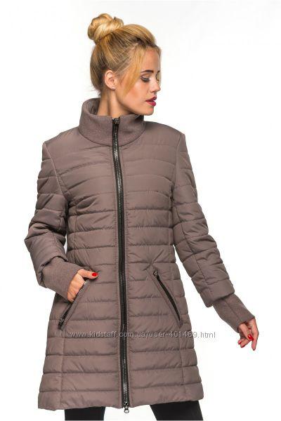 Куртка, пальто женская демисезонная комбинированная Тамила