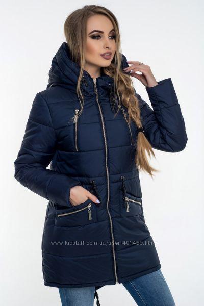 Распродажа Зимняя женская куртка, парка арт. 00049 синий