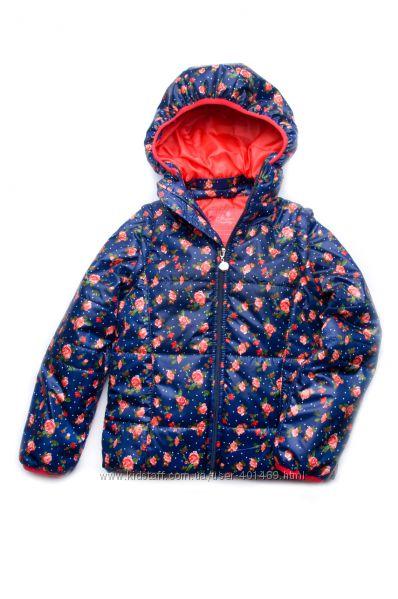 Куртка-жилет демисезонная для девочки темно-синийрозочки 03-00692-0