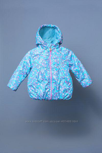 Куртка-ветровка детская для девочки цветочки 03-00777