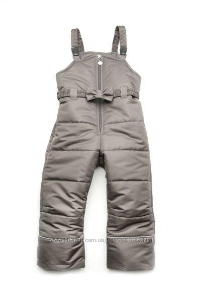 Полукомбинезон зимний для девочки  03-00746-0 серый р. 80-104