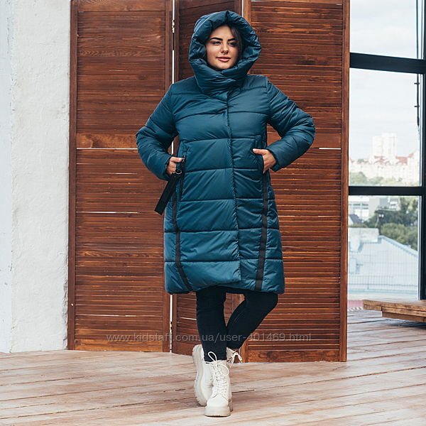 Куртка зимняя женская, пальто 71 / р.48-62 /