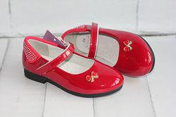 Туфли красные о 27 туфли нарядные. В наличии.