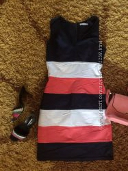 полосатое платье сарафан М ка