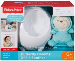Fisher Price  DYW48 Музыкальный ночник проектор  Сон бабочки