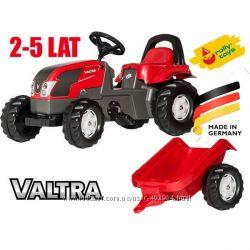 Трактор педальный с прицепом Rolly toys Kid Valtra 012527