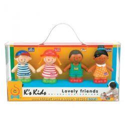 Фигурки Ks Kids веселые друзья Иван, Джулия, Майкл и Барбара 10324