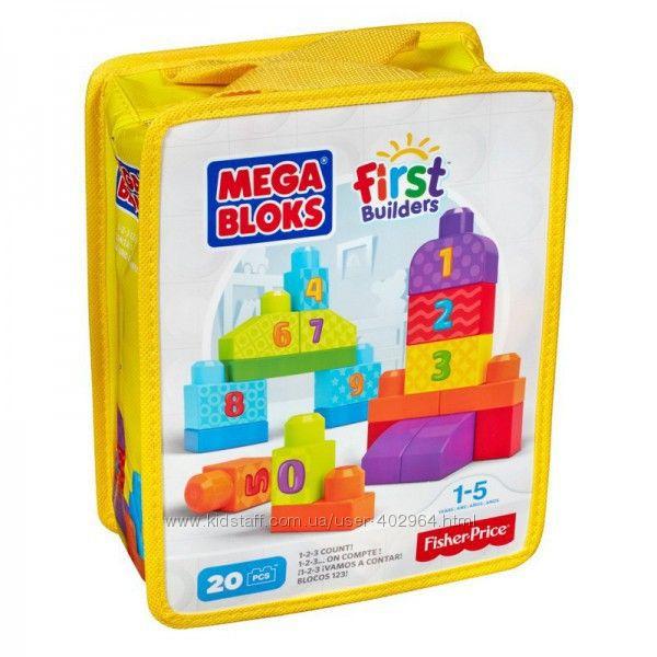 Конструктор Строй и учись считать MEGA BLOKS DLH85 20 деталей