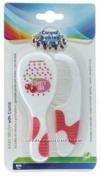 Щетка и гребешок для волос Canpol babies, белый с розовым 2409