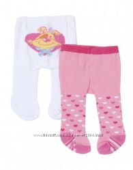 Колготки для куклы BABY BORN, 2 пары цвет белый - розовый
