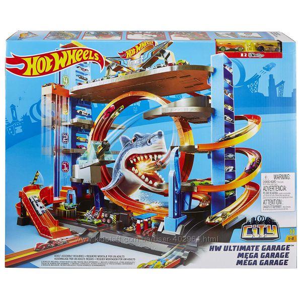 Трек Мега гараж Хот Вилс с акулой горячие колеса Hot wheels FTB69