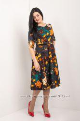 Красивое лаконичное платье 44-54 р-ры