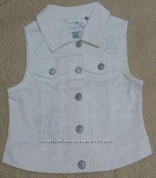Модная котоновая, джинсовая жилетка  Childrens Place, р. 4-12 лет