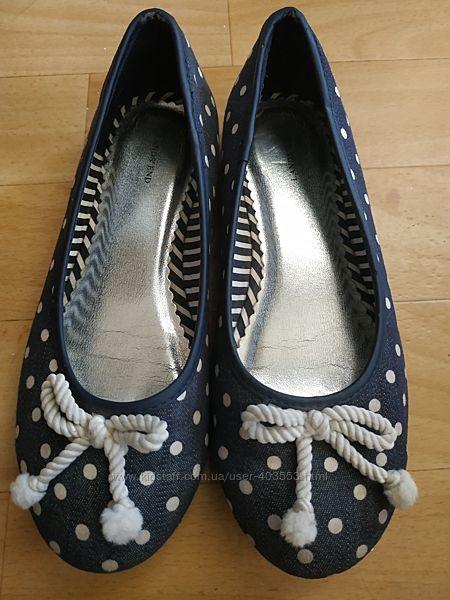 Туфли балетки Lands End для девочки р.32