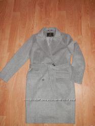 Пальто демисезонное шерстяное Tazetta с поясом кокон средней длины размер 4