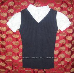 Рубашка с теплой жилеткой Est 1989 place, размер на 9-10 лет