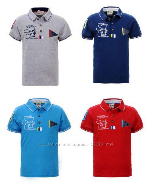 Шикарные футболочки-поло мальчикам р. 98, 104 Glo-Story