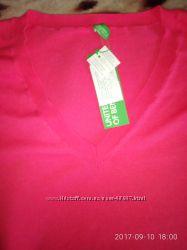 Тонкий свитер Benetton большого размера.