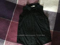 Рубашка чёрная с кружевом H&M р. 134