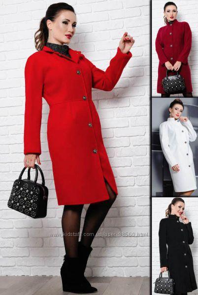 Базовое пальто Тереза кашемир 42-60 4 цвета