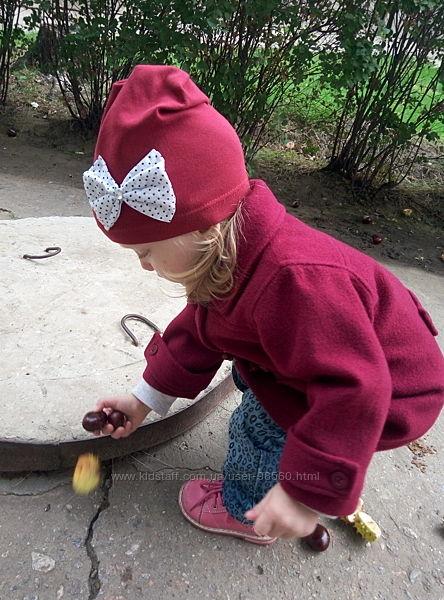 Шерстяной пальто 2-3 года для девочки шапка в подарок