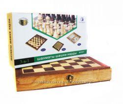Недорогие и Шикарные подарочные наборы 3 в 1. Шашки, шахматы, нарды