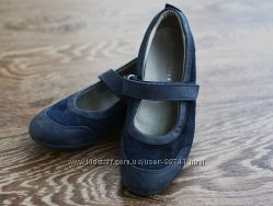 Замшевые туфли на липучке на девочку, 33 размер, Richter