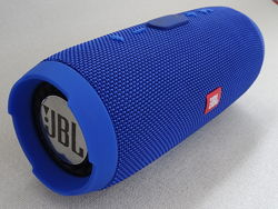 Колонка беспроводная Bluetooth JBL Charge 3 синяя