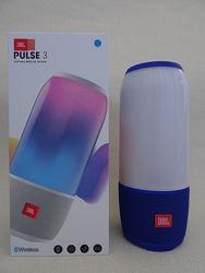 Колонка портативная с подсветкой Bluetooth JBL Pluse 3 Blue