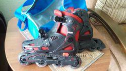 Продам роликовые коньки р. 30-33 с экипировкой и сумкой