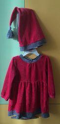 Продам святковий набір плаття і шапочка зріст 80
