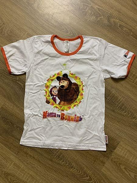 Нові футболки Маша та Ведмідь розмір 5-6 , 11-12 років