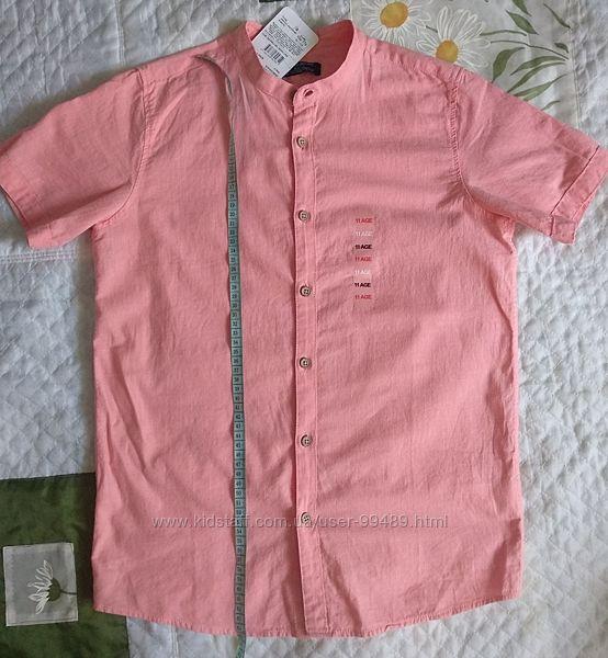 Красивые лёгкие рубашки с коротким рукавом на 10-12 лет