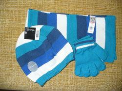 George,  мягкий комплект, шапка, шарф, перчатки, деми