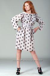 Платье-вышитые горохи