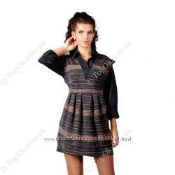 Платье-сарафан жаккардовое