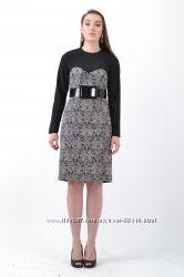 Платье Пейсли с черной кокеткой