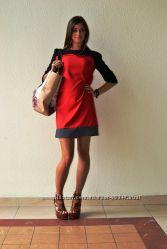 Платье красно-чёрное