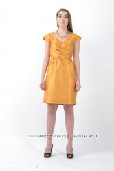 Платье золотой шёлк
