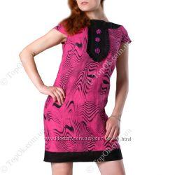 Платье розовая зебра