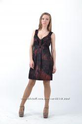 Платье-тёмно-бордовые розы