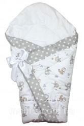 конверт на выписку одеяло детское 90х90см. легкое не аллергенное деми осень