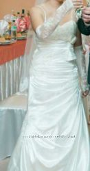 свадебное платье. нарядное на выпускной. супер торг