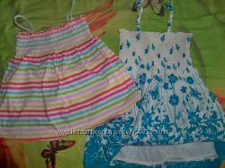 яркая майка и легусенькое платье