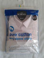 Рубашки M&S с длинным и коротким рукавом на 6-7 лет. Англия