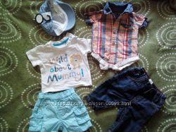 Комплект летней одежды на мальчика 0-3 мес