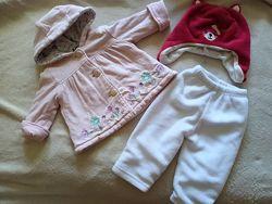 Пакет одежды на девочку 6-9 месяцев