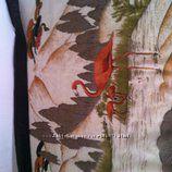 Тонкий шифоновый платок с пейзажем