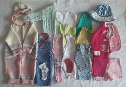 Пакет б/у вещей для девочки 1-1,5 г. на рост 80-86 см.