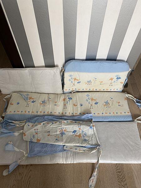 Бампер-защита для детской кроватки, одеяло, подушка